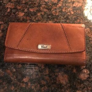 Leather Fossil wallet and check book cover